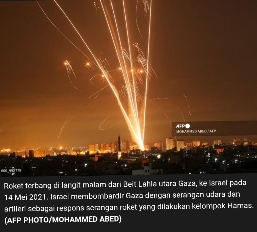 Roket-roket dan Senjata Rakitan Gaza Buat Israel Kalang Kabut
