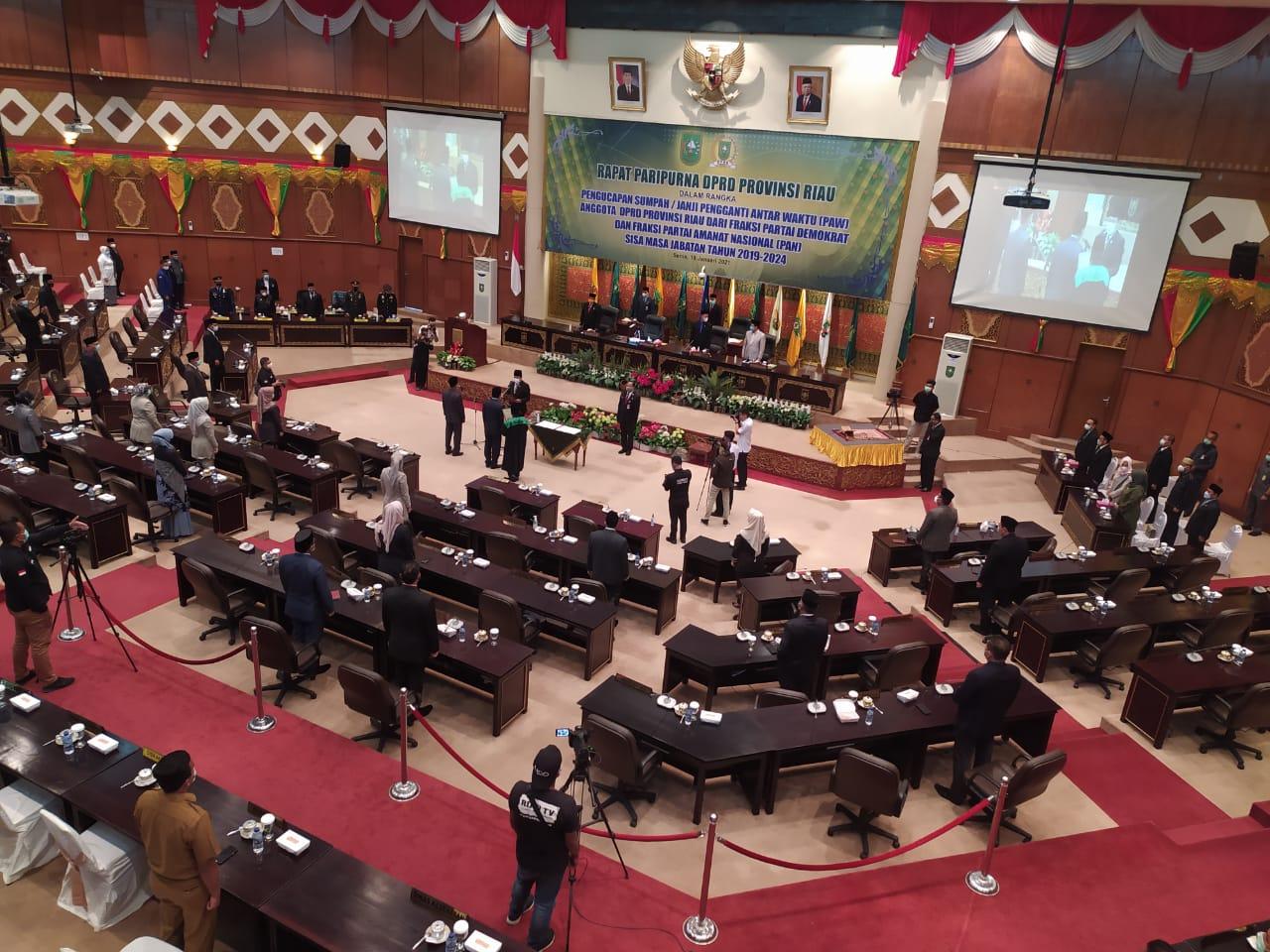 Disumpah, Mardianto Manan dan Zulkifli Indra Resmi Jadi Anggota DPRD Riau